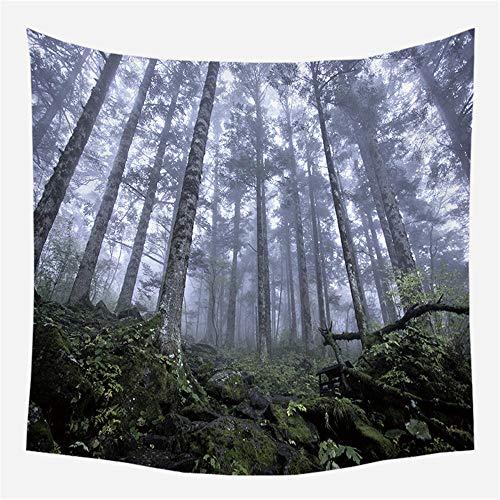 Tapiz de Pared Bosque psicodélico 16 Tapiz Decoración del hogar para Dormitorio Sala de Estar 150cm X 200cm