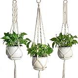 Ruiqas Soporte para Plantas, macramé Macetas para macetas Perchero Colgante de Interior Sujetador de Plantas para la Oficina de Home Garden - 3 Paquetes Diferentes