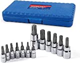 WORKPRO 13-piece Torx Bit Socket Set T8-T60, S2 Steel(For...