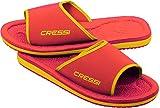 Cressi Lipari Sandals, Ciabatta per Spiaggia e Piscina Unisex, Rosso/Arancio, 33