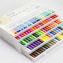 Yishaner Art Markers Dual Tips Coloring Brush Fineliner Color Pens, 100 Colors of Water Based Marker for Calligraphy Drawing Sketching Coloring Book Bullet Journal Art Projects Supplies