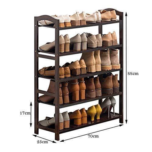 WSNBB Schuhablage, 5-lagige Bambus-Schuhablage, Reines Bambuslaminat, Gesund Und Umweltfreundlich (größe : 70cm)