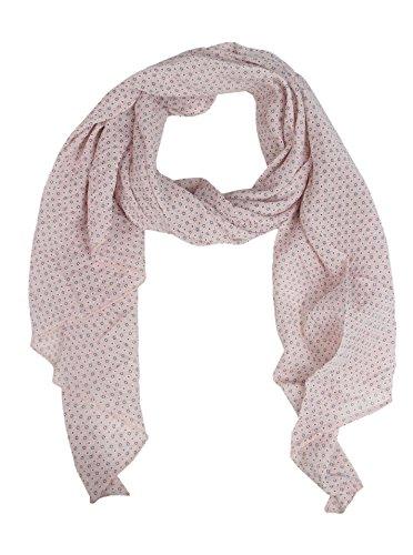 Zwillingsherz Seiden-Tuch Damen dezentes Muster - Made in Italy - Eleganter Sommer-Schal für Frauen - Hochwertiges Seidentuch/Seidenschal - Halstuch und Chiffon-Stola stilvolles Muster rose