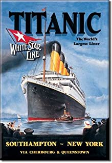 (2x3) Titanic White Star Line Cruise Ship Retro Vintage Locker Refrigerator Magnet