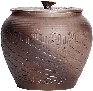 Boite Alimentaire Poterie Céramique céréales Bidon Cookie Jar avec Couvercles grandes, Hermétique alimentaires storage Con...