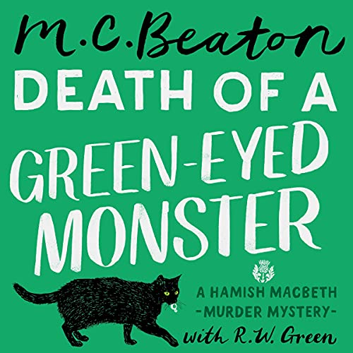 Death of a Green-Eyed Monster Audiobook By M.C. Beaton cover art