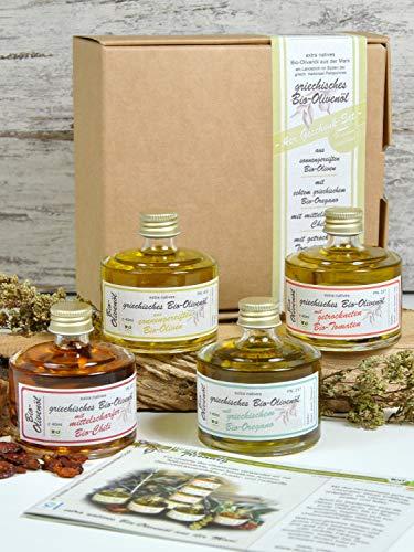 direct&friendly Geschenkset Bio Olivenöle mit Chili, Tomate, Oregano - 3
