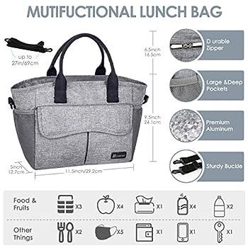 BITIWEND Sac isotherme sac à lunch femmes hommes enfants sac de pique-nique Sac thermique pliable réutilisable sac isotherme pour travail, pique-nique, randonnée, excursions, pêche