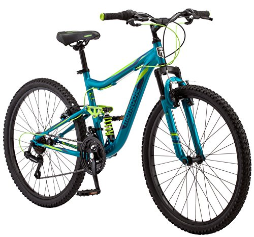 Mongoose Status Mountain Bike for Men and Women, Status 2.2, 26-Inch Wheels, Teal