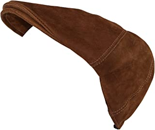 Men's Vintage Leather Driver's Cap/Old School Hat Handmade Swayze Suede (Small)