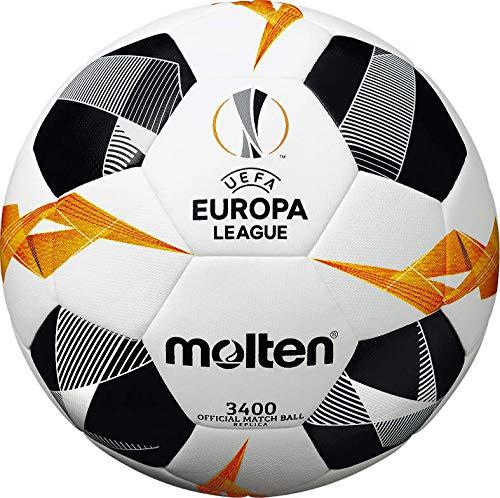 Molten UEFA Europa League - Pallone da partita, unisex, 3400, bianco/nero/arancione, taglia 5