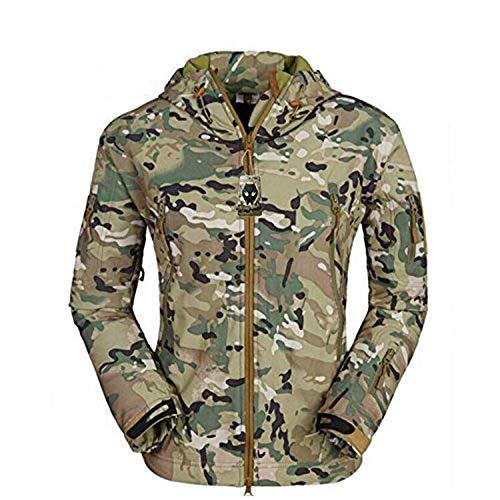 WorldShopping4U MEN BDU Combat Hoodies manches longues Veste imperméable pour tactique Randonnée Armée Militaire Airsoft Paintball (MC, XXL)