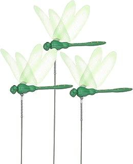 4 Set Solaire Figurines Pierre avec Papillon Colibri Fleur Libellule Lumière