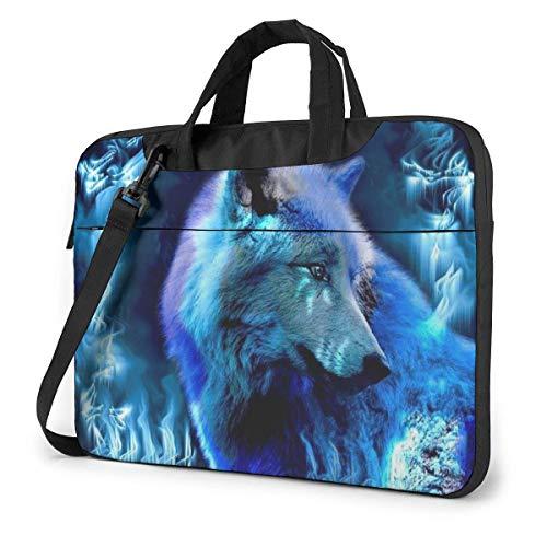 XCNGG Computertasche Umhängetasche Laptop Bag, Galaxy Wolf Pattern Briefcase Protective Bag 15.6 inch
