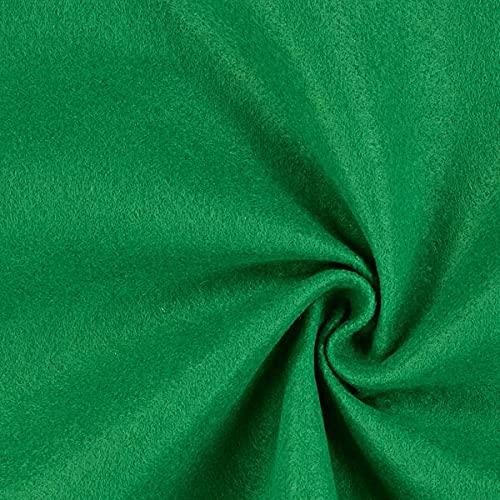 Fabulous Fabrics Filz grasgrün, Uni, 90cm breit, 1 mm Stärke – Filz zum Nähen von Taschen, Accessoires und Kopfbedeckung – Meterware erhältlich ab 0,5 m