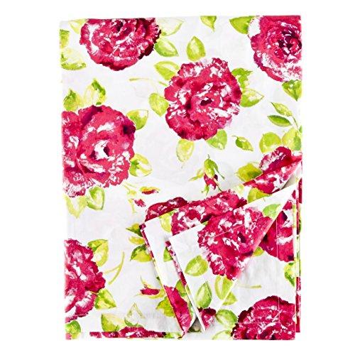 Ragged Rose Nappe rectangulaire en Coton de la Gamme Tessa, Blanc