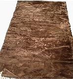Moda Furs New Brown 100% Sheared Beaver Fur Blanket Throw Rug Bedspread 90' X 47'