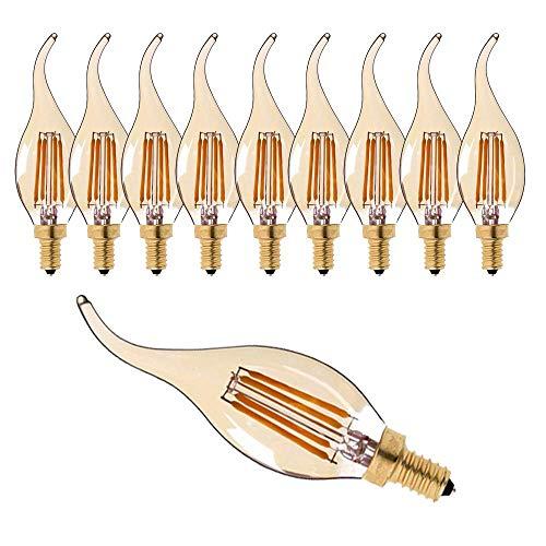 LED-kaarslampen E14 LED-dimbare lampen LED-gloeilampen Kaarslampen Warm Wit 2700K C35 L10 Pack