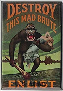 Enlist, Destroy This Mad Brute Refrigerator Magnet.