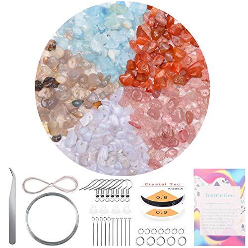 Fein 400 cuentas de piedra de cristal natural irregular, 5 – 8 mm de piedras...