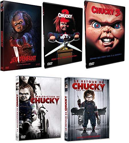 5 DVD - Chucky L'intégrale - 5 Films (Chucky Jeu d'enfant + Chucky 2 + Chucky 3 + La malédiction de Chucky + Le retour de Chucky)
