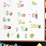 Etiqueta De La Pared -Vinilo Infantil Digital Insecto Animal Calcomanías De Pared/Pegatinas De Pared/Habitación/Decoración De Paredes/Dormitorio/Dibujos Animados