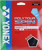 ヨネックス(YONEX) テニスガット ポリツアースピン125(ブラック) 単張りガット PTGSPN-007