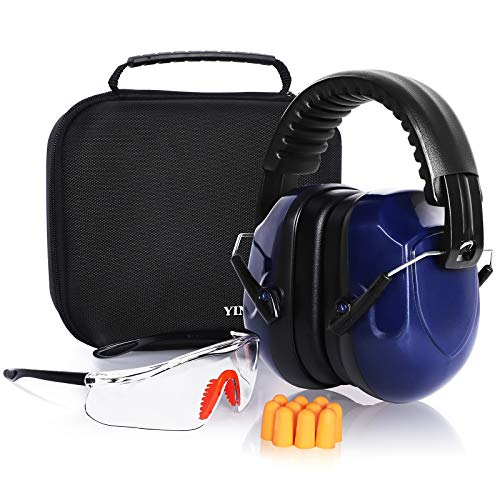 Shooting Ear Protection Earmuffs, Ear protection for gun range, Earmuffs for shooting , Gun Safety Glasses, Protective case