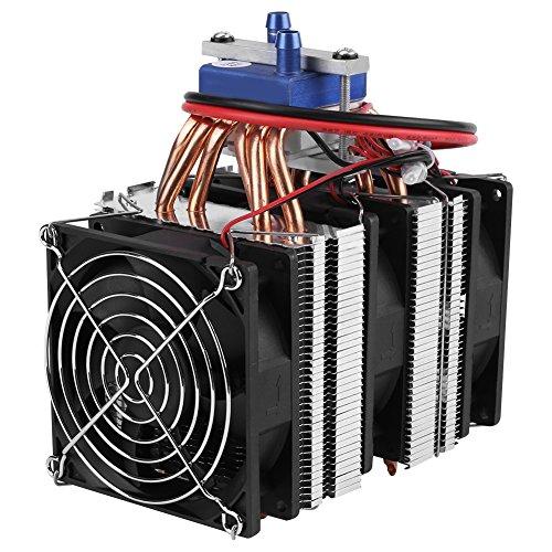 DIY Mini Dual-Core Elettrico Semiconduttore Modulo Refrigerante Termoelettrico Peltier Frigorifero Radiatore di Pesce Serbatoio Raffreddamento Ventilatore(180W)