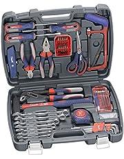 kwb alet çantası, tornavida uçları dahil, doldurulmuş, sağlam ve kaliteli, ev veya garaj için ideal, GS onaylı, pratik plastik çanta içinde