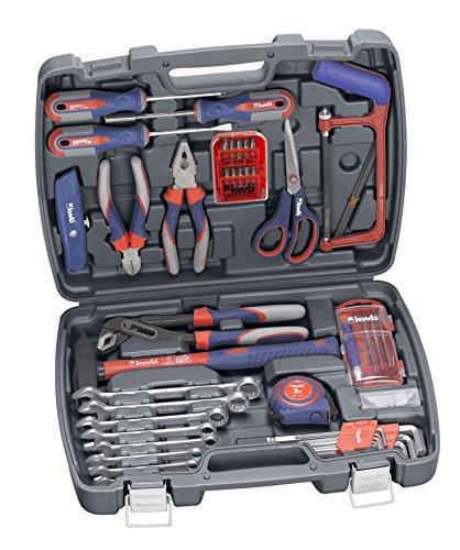 kwb Werkzeug-Koffer inkl. Werkzeug-Set, 65-teilig, gefüllt, robust und hochwertig, ideal für den Haushalt oder die Garage, im praktischen Kunststoffkoffer
