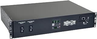 Tripp Lite 5.76kW Single-Phase ATS/Switched PDU, LX Platform Interface, 208/240V (16 C13, 2 C19 & 1 L6-30R) 2 L6-30P Inputs, 2U Rack-Mount, TAA (PDUMH30HVATNET)
