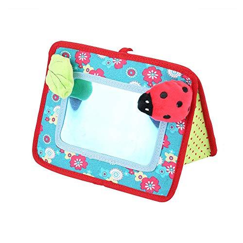 Wankd Baby Spiegel Spielzeug, Baby Sicherheit Spiegel Kinderwagen Pedant Spielzeug Stereo Tier Spiegel Frühe Entwicklung Pädagogisches Kognitiv Spielzeug mit BB Gerät und Glocke (18.5 * 10.5 * 12cm)