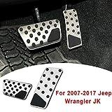 Seven Continents para Jeep Wrangler JK 2007-2017 AT Kit de Cubierta del Pedal del Freno de pie Cubierta del Pedal del Freno del Acelerador Antideslizante 2pcs / Set