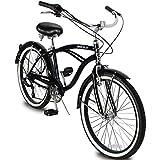 Micargi Tahiti 7SP 24 Inch Men's Beach Cruiser Bike Shimano 7-Speed Hi-Ten Steel Frame City Bike...