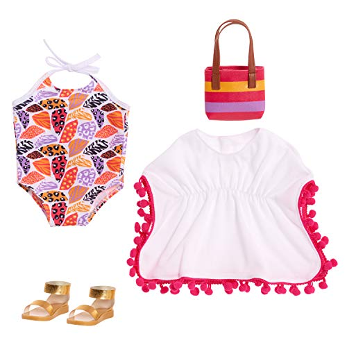 """Journey Girls 18"""" Doll Fashion Set Sunny Days Swimsuit Set - Amazon Exclusive"""