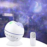 Star Projector Night Light for Bedroom, Galaxy Effect Light Starry Nebula Ocean Wave LED Laser Lamp for...