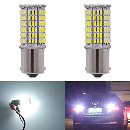 Katur 1500 lumen Super White 1156 BA15s 1141 1003 7506 3014 114SMD LED-lamp Canbus Erro rem achteruitversnellingssignaal RV Licht 12 V 9 W 2 stuks 2pcs 1156