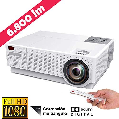 Proyector 4K Compatible, Luximagen FUHD230 Full HD 1080p Nativo 6.800 lúmenes , Dolby AC3 Corrección Digital 4D, hasta 300
