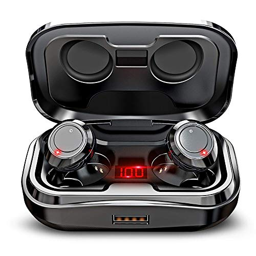 LRHD Wireless Bluetooth Headset 2020 New TWS Earphones 9D Stereo Sounds Music Earbuds IPX7 Waterproof With 3500mAh With Microphone for Running Headphones Cycling Driving Fitness