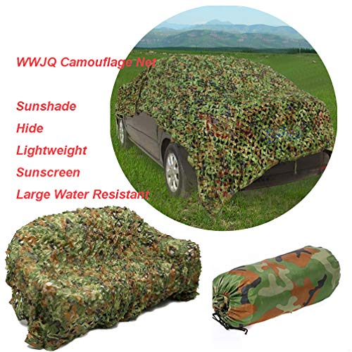 WWJQ Heavy-duty 210D Camo Netting, Green Oxford Camouflage Hide Net, for Camping/Hunting/Blinds/Shooting/Military/Decoration, Available in a Variety of Sizes