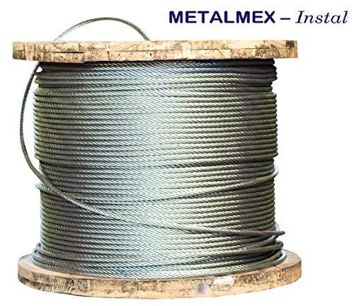 METALMEX - Instal Drahtseil 6x19 verzinkt Forstseil Windenseil (8mm, 100M)