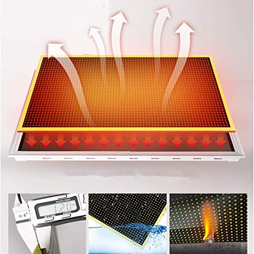 BIN 1300W Electric Wall Mounted Panel Heater Infrared Radiant Heater For Indoor Use Carbon Crystal Wall Warm Mural…