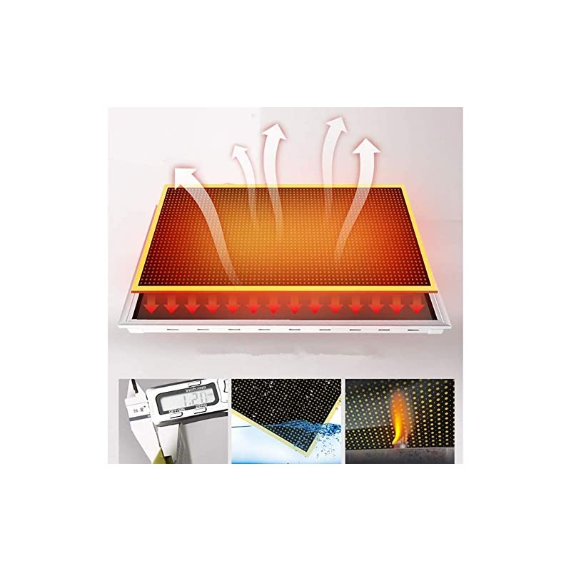 BIN Electric Heater Carbon Crystal Wall Warm Mural Wall-mounted Panel Heater 1300W 220V Far Infrared Heater Energy…