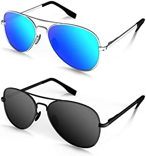 MOTOEYE Polarized Aviator Sunglasses for Kids Girls Boys...