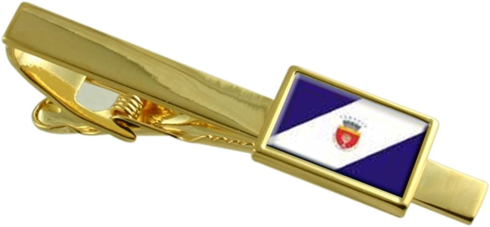 service Onesti Ranking TOP1 City Romania Flag Gold-tone Personalise Clip Engraved Tie