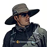 Cooltto Wide Brim Sun Hats with Waterproof Breathable for Fishing, Hiking, Camping