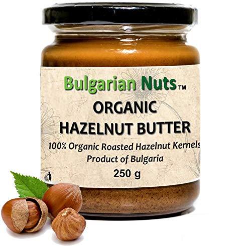 500 g Beurre de noisettes Bio, Sans - Gluten, émulsifiants, huile de palme, sucre, conservateurs, produit de noisettes Bulgares