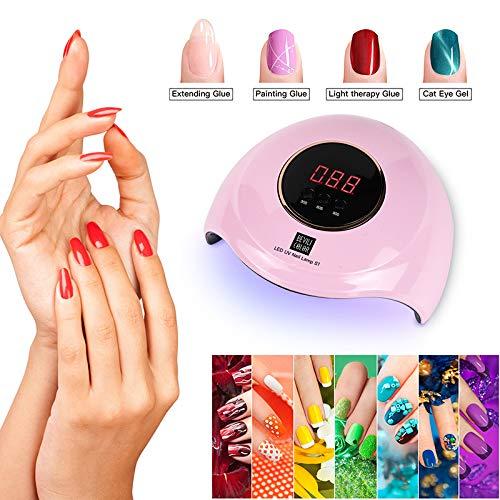 Damaila UV LED nagellamp, 36W nagel droger gel nagellak lamp, USB dubbele lichtbron nagellicht met 3 timer automatische sensor Professionele salon niveau nail art tool
