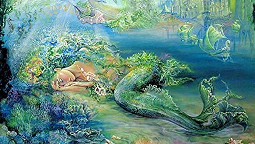 KELDOG® 1000 stukjes puzzel Volwassen speelgoedpuzzel - Kinderpuzzel, Decoratieschilderij Woondecoratie Geschenk-Zeemeermin-schilderij van Josephine Wall